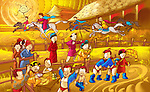 Naadam festival celebration in Independent Mongolia