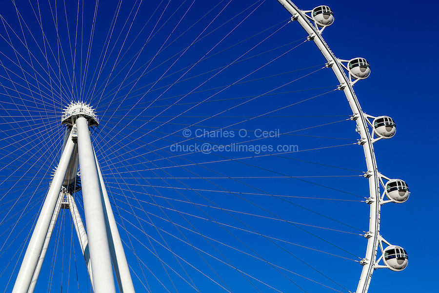 Las Vegas, Nevada.  High Roller, the World's Tallest Observation Wheel, as of 2015.