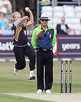 Sian Ruck opens the bowling for New Zealand - England Women vs New Zealand Women - First match of the NatWest summer T20 cricket series at the Ford County Ground, home of Essex CCC, Chelmsford -  29/06/10 - MANDATORY CREDIT: Gavin Ellis/TGSPHOTO - Self billing applies where appropriate - Tel: 0845 094 6026