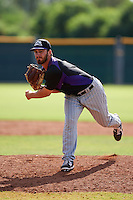 Colorado Rockies pitcher Sam Moll (6) during an instructional league game against the San Francisco Giants on October 7, 2015 at the Giants Baseball Complex in Scottsdale, Arizona.  (Mike Janes/Four Seam Images)