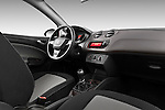 Passenger side dashboard view of a 2013 Seat Ibiza Style Hatchback.
