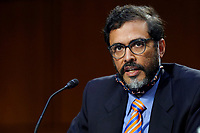 Saikrishna Prakash testifies during the confirmation hearing of Supreme Court nominee Amy Coney Barrett before the Senate Judiciary Committee on Capitol Hill in Washington, Thursday, Oct. 15, 2020. <br /> Credit: Susan Walsh / Pool via CNP /MediaPunch