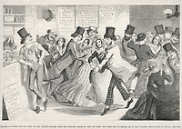 A popular dance hall in London's East End / George Cruikshank The drunkard's children plate 3 / circa 1850