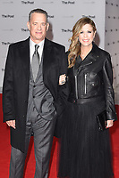 """Tom Hanks and wife, Rita Wlson<br /> arriving for the European premiere of """"The Post"""" at the Odeon Leicester Square, London<br /> <br /> <br /> ©Ash Knotek  D3368  10/01/2018"""