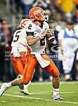 Illinois Fighting Illini quarterback Nathan Scheelhaase (2) gets set to make a pass down field during the 2010 Texas  Bowl football game between the Illinois  Fighting Illini and the Baylor Bears at the Reliant Stadium in Houston, Tx. Illinois defeats Baylor 38 to 14....