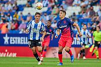 12th September 2021: Barcelona, Spain:  Luis Suarez of Atletico de Madrid during the Liga match between RCD Espanyol and Atletico de Madrid at RCDE Stadium in Cornella, Spain.