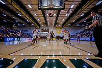23 January 2019: UMBC Retriever Guard R.J. Eytle-Rock, a Freshman from London, England, scores a foul shot in the final moments of play against the University of Vermont Catamounts at Patrick Gymnasium in Burlington, Vermont. The Retrievers handed the Catamounts their first America East loss of the season 74-61. Mandatory Credit: Ed Wolfstein Photo *** RAW (NEF) Image File Available ***