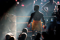 Pix: Michael Steele/SWpix.com. Boxing. Chris Eubank, Manchester 1995...COPYWRIGHT PICTURE>>SIMON WILKINSON>>01943 436649>>..Boxer Chris Eubank poses pre fight in the ring at The Manchester G-Mex centre in 1995.