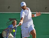 England, London, Juli 04, 2015, Tennis, Wimbledon, Pablo Andujar (ESP) in action against Berdych<br /> Photo: Tennisimages/Henk Koster