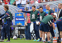 Chicago, IL - Sunday July 28, 2013:   USMNT interim head coach Martin Vazquez during the CONCACAF Gold Cup Finals soccer match between the USMNT and Panama, at Soldier Field in Chicago, IL.