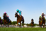 ARLINGTON HEIGHTS,IL-AUGUST 12: Dacita,ridden by Irad Ortiz Jr,wins the Beverly D. Stakes at Arlington International Race Track on August 12,2016 in Arlington Heights,Illinois (Photo by Kaz Ishida/Eclipse Sportswire/Getty Images)