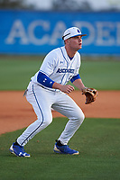 IMG Academy Ascenders shortstop Kevin Karstetter (5) during warmups before a game on February 28, 2020 at IMG Academy in Bradenton, Florida.  (Mike Janes/Four Seam Images)
