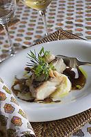 Europe/France/2A/Corse-du-Sud/Bonifacio: Hotel Restaurant A Cheda Pavé de Pagre au vinaigre Balsamique recette de Sebastien Moret