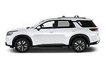 Car Driver side profile view of a 2022 Nissan Pathfinder SL 5 Door SUV Side View