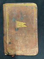 BNPS.co.uk (01202 558833)<br /> Pic: Wikipedia <br /> <br /> PICTURED: Official White Star Line book of sailing found on William Harrison after the Titanic went down. The personal archive of tragic William Harrison who was valet to Bruce Ismay, the managing director of Titanic's owners White Star Line, fetched £44,000.<br /> <br /> A walking cane with a lightbulb on one end of it that a Titanic survivor waved in a desperate attempt to attract a rescue ship has sold for £105,000.Ella White held the wooden stick aloft in the clear night sky as she stood on the deck of the stricken liner to try and signal any passing ships. But her actions blinded crew members while they set about loading passengers into lifeboats.Second officer Charles Lightoller was so annoyed by Mrs White and her cane that he ordered it to be confiscated and thrown overboard.It was the marquee lot in a sale of Titanic artefacts held by auctioneers Henry Aldridge and Son of Devizes, Wilts.