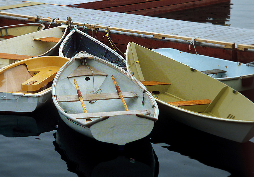 Wooden rowboats, Maine, ME