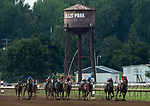 Art Geroux and Lady Kate take a commanding lead down the straightaway before winning the ninth race at Ellis Park in Henderson, Ky., Sunday afternoon, Aug. 9, 2020.