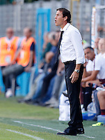 Calcio, Serie A: Frosinone vs Roma. Frosinone, stadio Comunale, 12 settembre 2015.<br /> Roma's coach Rudi Garcia gives indications to his players  during the Italian Serie A football match between Frosinone and Roma at Frosinone Comunale stadium, 12 September 2015.<br /> UPDATE IMAGES PRESS/Riccardo De Luca
