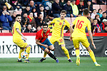 Spain's Mikel Merino  and Romania's Dragu? Denis, Romania's Nedelcu Dracos  during the International Friendly match on 21th March, 2019 in Granada, Spain. (ALTERPHOTOS/Alconada)