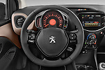 Car pictures of steering wheel view of a 2014 Peugeot 108 Allure 5 Door Micro Car 2WD Steering Wheel