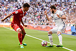 Real Madrid's Nacho Fernandez and Sevilla FC Carlos Joaquin Correa during La Liga match between Real Madrid and Sevilla FC at Santiago Bernabeu Stadium in Madrid, May 14, 2017. Spain.<br /> (ALTERPHOTOS/BorjaB.Hojas)