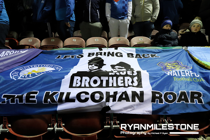 Waterford banner ahead of the SSE Airtricity League Premier Division game between Cork City and Waterford FC on Friday 23rd February 2018 at Turners Cross. Photo By: Michael P Ryan
