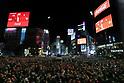 New Year countdown at Shibuya Crossing
