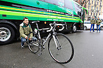 Thomas Voeckler's (FRA) Team Europcar Colnago bike at the start of the 104th edition of the Milan-San Remo cycle race at Castello Sforzesco in Milan, 17th March 2013 (Photo by Eoin Clarke 2013)