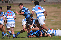 Action from the 1st XV college rugby match between St Pat's Silverstream and Nelson College at St Patrick's College Silverstream in Upper Hutt, New Zealand on Friday, 16 April 2021. Photo: Dave Lintott / lintottphoto.co.nz