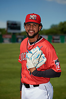 Batavia Muckdogs Jeremy Ovalle (19) poses for a photo before a NY-Penn League game against the West Virginia Black Bears on June 26, 2019 at Dwyer Stadium in Batavia, New York.  Batavia defeated West Virginia 4-2.  (Mike Janes/Four Seam Images)