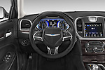 Car pictures of steering wheel view of a 2018 Chrysler 300 Limited 4 Door Sedan