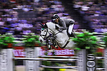 OMAHA, NEBRASKA - APR 1:  Ludger Beerbaum rides Chiara during the International Omaha Jumping Grand Prix at the CenturyLink Center on April 1, 2017 in Omaha, Nebraska. (Photo by Taylor Pence/Eclipse Sportswire/Getty Images)