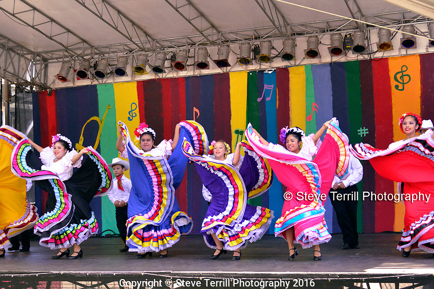 Ballet Folklorico Corazon Alegre performing at Cinco De Mayo Festival in Portland Oregon