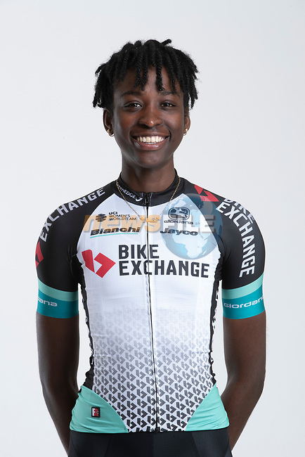 Teniel Campbell (TTO) Team BikeExchange women's squad potrait, Spain. 22nd January 2021.<br /> Picture: Sara Cavallini/GreenEDGE Cycling | Cyclefile<br /> <br /> All photos usage must carry mandatory copyright credit (© Cyclefile | Sara Cavallini/GreenEDGE Cycling)