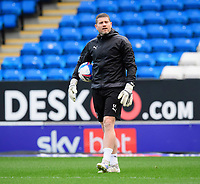 Blackpool's goalkeeper coach Steve Banks during the pre-match warm-up<br /> <br /> Photographer Chris Vaughan/CameraSport<br /> <br /> The EFL Sky Bet League One - Peterborough United v Blackpool - Saturday 21st November 2020 - London Road Stadium - Peterborough<br /> <br /> World Copyright © 2020 CameraSport. All rights reserved. 43 Linden Ave. Countesthorpe. Leicester. England. LE8 5PG - Tel: +44 (0) 116 277 4147 - admin@camerasport.com - www.camerasport.com