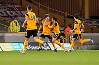 30th October 2020; Molineux Stadium, Wolverhampton, West Midlands, England; English Premier League Football, Wolverhampton Wanderers versus Crystal Palace; Rayan Aït-Nouri of Wolverhampton Wanderers celebrates opening the score for a 1-0 lead to Wolverhampton Wanderers in the 16th minute