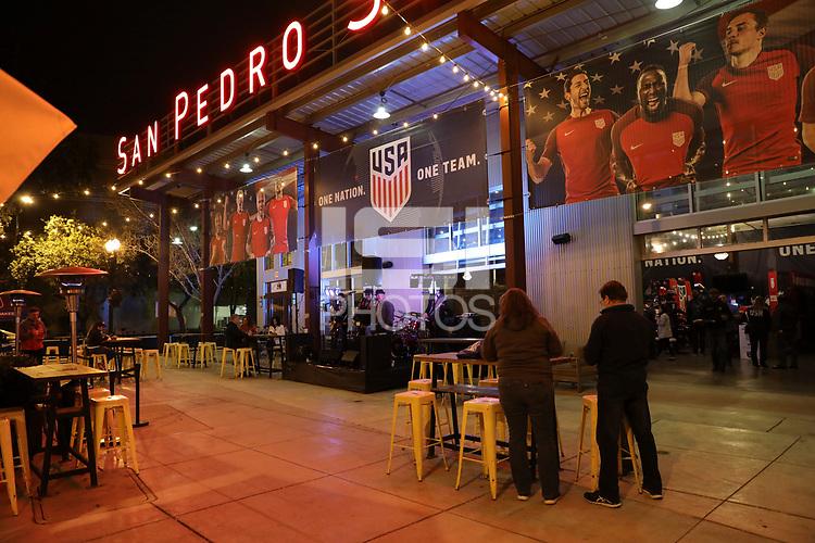 San Jose, CA - March 23, 2017: The U.S. U.S. Soccer FanHQ at San Pedro Square in San Jose, Calif..