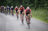 Kris Boeckmans (BEL/Lotto-Soudal) driving the peloton<br /> <br /> stage 4: Hotel Verviers - La Gileppe (Jalhay/BEL) 186km <br /> 30th Ster ZLM Toer 2016