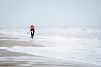 Mathieu Van der Poel (NED/Alpecin-Fenix) racing next to the North Sea<br /> <br /> UCI 2021 Cyclocross World Championships - Ostend, Belgium<br /> <br /> Elite Men's Race<br /> <br /> ©kramon