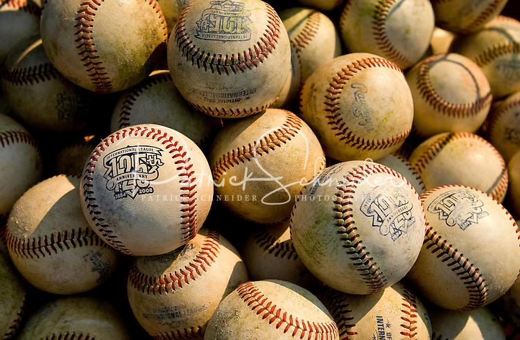 Baseballs for the Charlotte Knights baseball game.