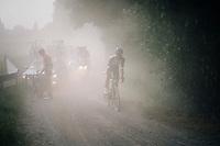 Jerome Baugnies (BEL/Wanty-Groupe Gobert) in dusty pursuit<br /> <br /> 3rd Dwars Door Het hageland 2018 (BEL)<br /> 1 day race:  Aarschot > Diest: 198km