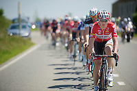 Frederik Willems (BEL/Lotto-Belisol) pulling at the front again<br /> <br /> 2014 Belgium Tour<br /> stage 4: Lacs de l'Eau d'Heure - Lacs de l'Eau d'Heure (178km)