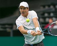 10-02-14, Netherlands,Rotterdam,Ahoy, ABNAMROWTT,Tomas Berdych(CZE)<br /> Photo:Tennisimages/Henk Koster