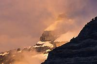 Summit of Mt. Igikpak obscured in clouds, Brooks Range, Gates of the Arctic National Park, Alaska