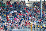 Spectators watch on during the Munster GAA Football Senior Championship Final match between Kerry and Cork at Fitzgerald Stadium in Killarney on Sunday.