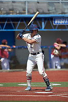 Eric Grintz (5) (UNC) of the High Point-Thomasville HiToms at bat against the Old North State League West All-Stars at Hooker Field on July 11, 2020 in Martinsville, VA. The HiToms defeated the Old North State League West All-Stars 12-10. (Brian Westerholt/Four Seam Images)
