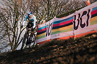 Wout Van Aert (BEL/Cibel-Cebon)<br /> <br /> Men's Elite race<br /> <br /> UCI 2019 Cyclocross World Championships<br /> Bogense / Denmark<br /> <br /> ©kramon