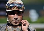 10 April 10: Jockey Luis Quinonez on Arkansas Derby Day at Oaklawn Park in Hot Springs, Arkansas.
