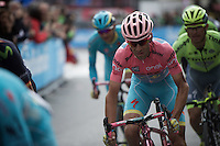 Maglia Rosa Vincenzo Nibali (ITA/Astana) around the final, local laps around Torino on his very 'pink bling' Specialised bike<br /> <br /> stage 21: Cuneo - Torino 163km<br /> 99th Giro d'Italia 2016
