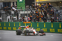 10th October 2021; Formula 1 Turkish Grand Prix 2021 Race Day Istanbul Park Circuit, Istanbul, Turkey;  33 VERSTAPPEN Max nld, Red Bull Racing Honda RB16B celebrating his second place